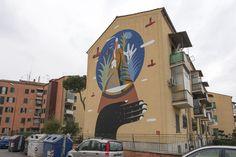 StreetArt Roma: The Globe | Agostino Iacurci | 2014 | Zona: San Basilio | #art #streetart #roma