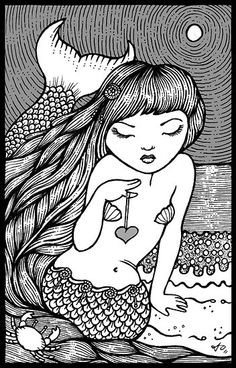 "lovely ..... ""Mermaid Dream"" by Anita Inverarity"