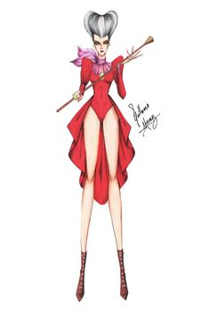 Disney Characters as Haute Couture Skinny Super Models
