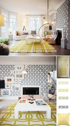 """Don't miss our festive yellow home decor ideas at www.CreativeHomeDecorations.com. Use code """"Pin70"""" for additional 10% off!"""