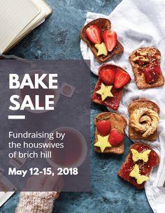 22 best bake sale flyer templates images bake sale flyer create