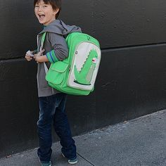 percival the dino big kid backpack by beatrix new york