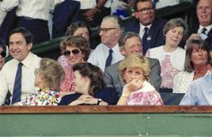 1987-07-05 Diana at Wimbledon for the Mens' Singles, Semi-Final Match between Pat Cash and Ivan Lendl