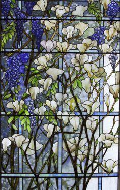magnolia tiffany   | Tiffany Mosaics & Windows - Catalogue - Lillian Nassau LLC