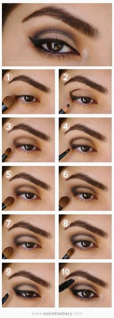 Makeup Ideas For Prom - Intense Metallic Smokey Eye Tutorial - These Are The Bes. Makeup Ideas For Prom - Intense Metallic Smokey Eye Tutorial - These Are The Best Makeup Ideas For Prom and Ho Eyeshadow Tutorial For Beginners, Smokey Eye Makeup Tutorial, Eye Tutorial, Eyeshadow Tutorials, Cut Crease Tutorial, Eyeliner Tutorial, Makeup Guide, Eye Makeup Tips, Makeup Hacks