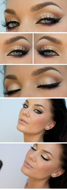 Smokey eyes for blue eyes - make-up tips and instructions Smokey Eye . - Smokey eyes for blue eyes – make-up tips and instructions Smokey eye look for blue ey - Prom Makeup, Wedding Makeup, Wedding Nails, Bridal Makeup, Wedding Gold, Diy Wedding, Wedding Ideas, Beauty Make-up, Beauty Hacks