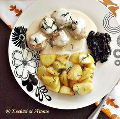 Chiftelute suedeze cu sos alb (Kottbullar)
