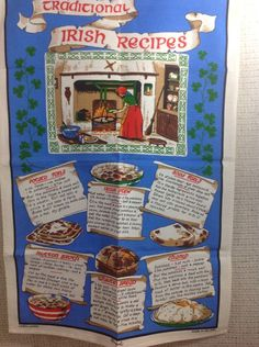 Linen Kitchen Tea Towel Traditional Irish Recipes Hearth Cooking Made Ireland