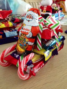 Christmas Santa Sleigh $6 great for Kris Kringle gifts!