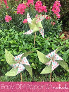 Easy DIY Paper Pinwheels - Outnumbered 3 to 1