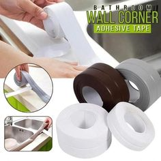 Bathroom Kitchen Bathroom Wall Stickers Art Sealing Sealant Tape Mildew Resistant Tape Waterproof Mold Proof Adhesive Tape New Bathroom Wall Stickers, Wall Trim, Pvc Material, Shower Floor, Bath Shower, Baseboards, Kitchen And Bath, Kitchen Stove, Clean House