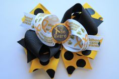 Childhood Cancer Awareness Hair Bow by StacyFoulks on Etsy, $5.00