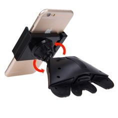 [USD2.62] [EUR2.41] [GBP1.89] 360 Degree Rotatable Universal Car CD Slot Phone Holder Stand Mount for iPhone 6s & 6s Plus, iPhone 6 & 6 Plus, Samsung Galaxy S6 / S6 edge / S6 edge+ / Note 5 Edge, Sony