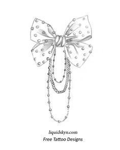 By Vampyrickitty Grey Ink Bow Tattoos Design Tattoo Sketch Pictures