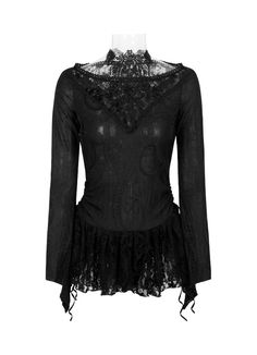 Gothic Langarm-Top Bewitched Beauty