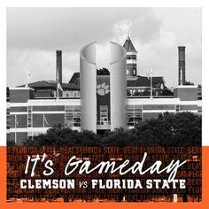 Get up Tigers! It's Gameday! Beat FSU 🏈 #allin #solidorange #beatFSU #clemsonfootball Clemson Football, Tigers, Beats, Orange, Big Cats
