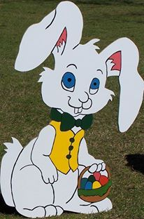 Easter Bunny Holiday yard art decoration