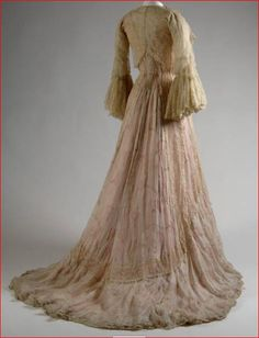 House of Worth, Pink Floral Chiffon Tea Dress. Paris, c. 1900. (View 2)