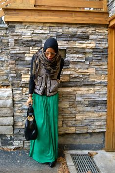 winter #hijab outfit