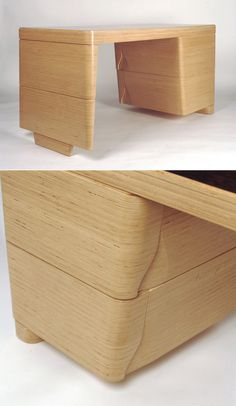 Awesome desk (and other stacked plywood furniture) by NADAAA Architects