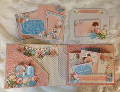 "Graphic 45 ""Precious Memories""  Mini Album with 6 x 4 flip page tutorial by Anne Rostad.  -  Wendy Schultz ~ Mini Albums."