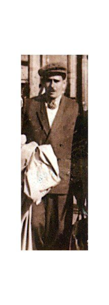 Gezeichnet:  Josef Königsberg nach seiner Befreiung aus dem KZ 1945, er ist...