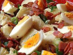 Πατατοσαλάτα με αυγό και μπέικον Cooking Time, Cooking Recipes, Cooking Ideas, Greek Recipes, Salad Dressing, Gravy, Fruit Salad, Food Network Recipes, Potato Salad