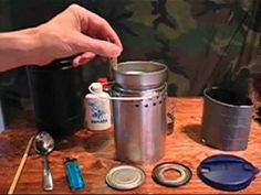 One dollar camp kitchen.  I love the ideas he has.  Makes me want to start looking for these cans.
