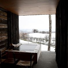 Zaborin Ryokan @ Niseko, Hokkaido #japan #nihon #nipon #hokkaido #niseko #onsen #greatview #snow #zaborin photo credit @tabitobi.us   zaborin.com