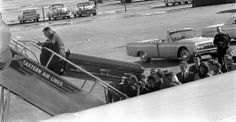 Loading JFK's casket on board Air Force One for the flight back to DC.