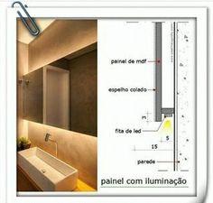 Hidden Lighting, Cove Lighting, Interior Lighting, Lighting Concepts, Lighting Design, Interior Design Tips, Bathroom Interior Design, Niche Design, Led Lighting Solutions