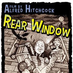 'Rear Window' vintage-style movie poster on Etsy
