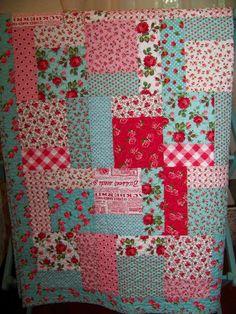 little girl quilt. Sweet :)