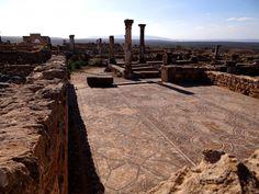 https://flic.kr/p/E8YZJv   Ruinenstätte Volubilis   Römische Ausgrabungsstätte. Die alte römische Siedlung im Norden Afrikas. Fantastisch erhaltener Mosaikfußboden