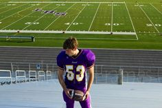 Senior pictures - football field