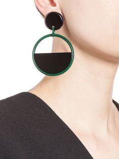 MARNI Clip-on earrings in resin