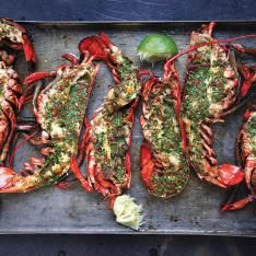 Grilled Lobster with Cilantro Chile Butter Recipe | SAVEUR