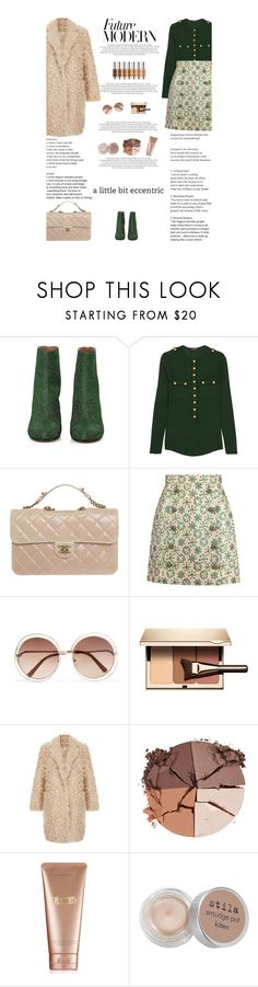 """Untitled #2841"" by amimcqueen ❤ liked on Polyvore featuring Maison Margiela, Balmain, Chanel, Dolce&Gabbana, Chloé, Clarins, lilah b., La Mer and Stila"