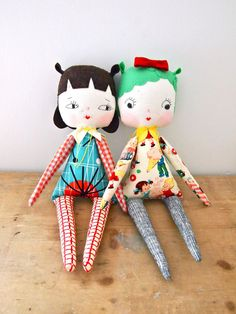 OLYMPUS DIGITAL CAMERA - image only cute retro style vintage fabric modern rag doll plushie design