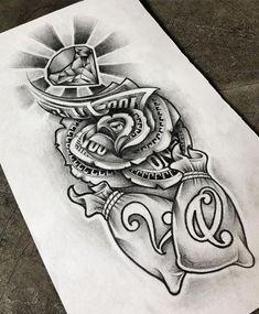 Card Tattoo Designs, Family Tattoo Designs, Tattoo Design Drawings, Tattoo Sleeve Designs, Flower Hip Tattoos, Leg Tattoos, Body Art Tattoos, Sleeve Tattoos, Tattoo P