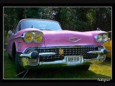 """Sammy Masters - Pink Cadillac. From the actual 1950's: """"4 carburetors and a hydromatic drive"""".  #CarSongFriday"""