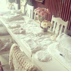 Vintage linen* Lace Wedding, Wedding Dresses, Vintage Linen, Linens And Lace, Shag Rug, Pajamas, Collection, Home Decor, Bride Dresses