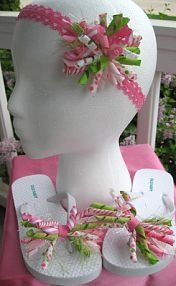 matching korker bows and flip flop bows! http://media-cache4.pinterest.com/upload/148267012702475004_moSfk1Re_f.jpg tammyyoung123 cupcake cuties bowtique