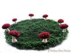 Fairy ring toadstool rug!