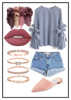 """afternoon dreaming"" by kloielou on Polyvore featuring Chicwish, Levi's, Prada, Accessorize and Lime Crime"