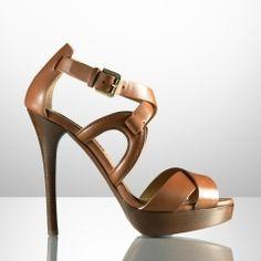 Jesita Calf Platform Sandal - Ralph Lauren Collection Collection Shoes - RalphLauren.com