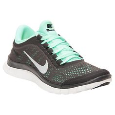 Women's nike running shoes in dark charcoal/mint. Love.