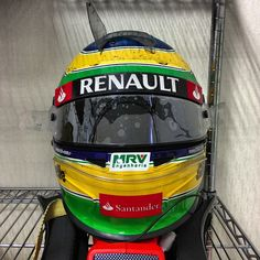 Senna (Yeongam 2012) - Post race helmet condition!