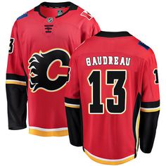 017b6cacc Fanatics Branded Calgary Flames  13 Youth Johnny Gaudreau Breakaway Red  Home NHL Jersey Johnny Gaudreau