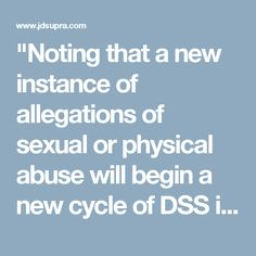 """""""Noting that a new instance of allegations of sexual or physical abuse will begin a new cycle of DSS investigations into the case, the Court of Appeals held that in an effort to end such a cycle, a trial court may order that any therapist who may be conducting therapy based on the accusing parent's version of the facts, instead of the version found by the court, cease treating the child to avoid further confusion and harm to the child."""""""